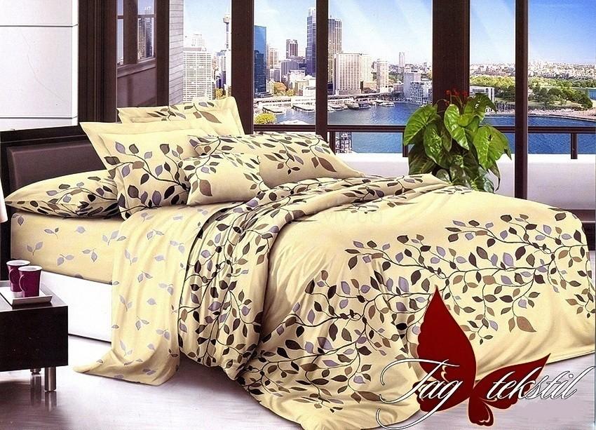 Комплект постельного белья ТМ TAG сатин-люкс с компаньоном S146