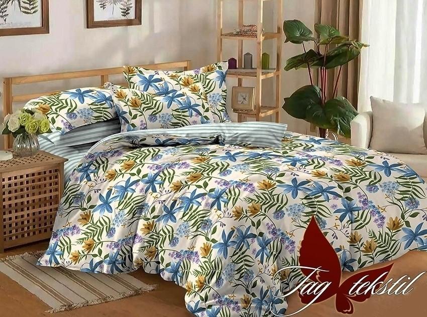 Комплект постельного белья ТМ TAG сатин-люкс с компаньоном S170