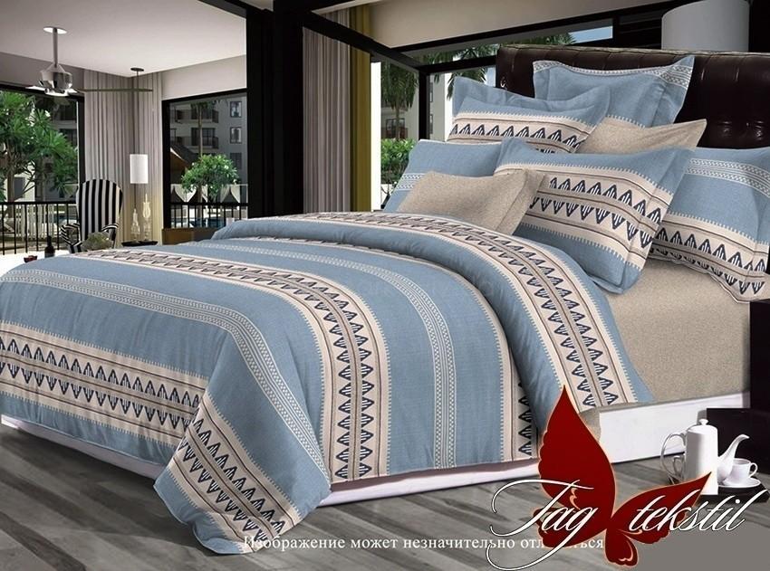Комплект постельного белья ТМ TAG сатин-люкс с компаньоном S214