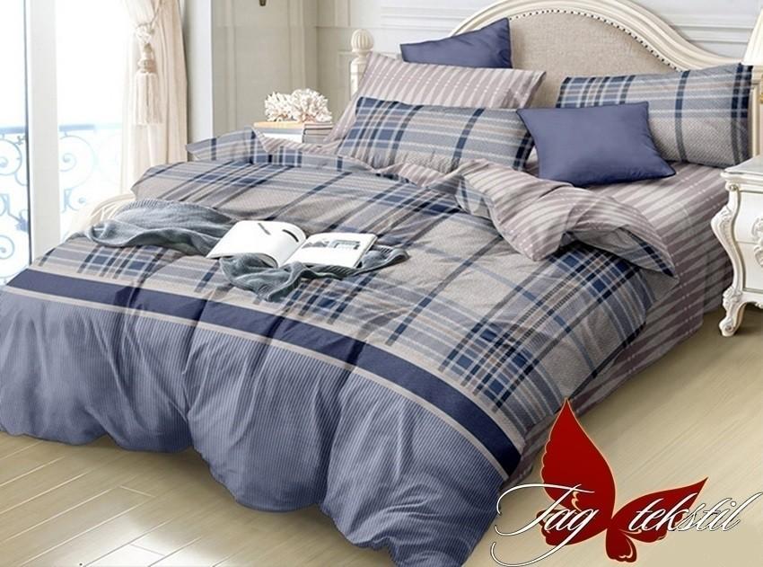 Комплект постельного белья ТМ TAG сатин-люкс с компаньоном S261