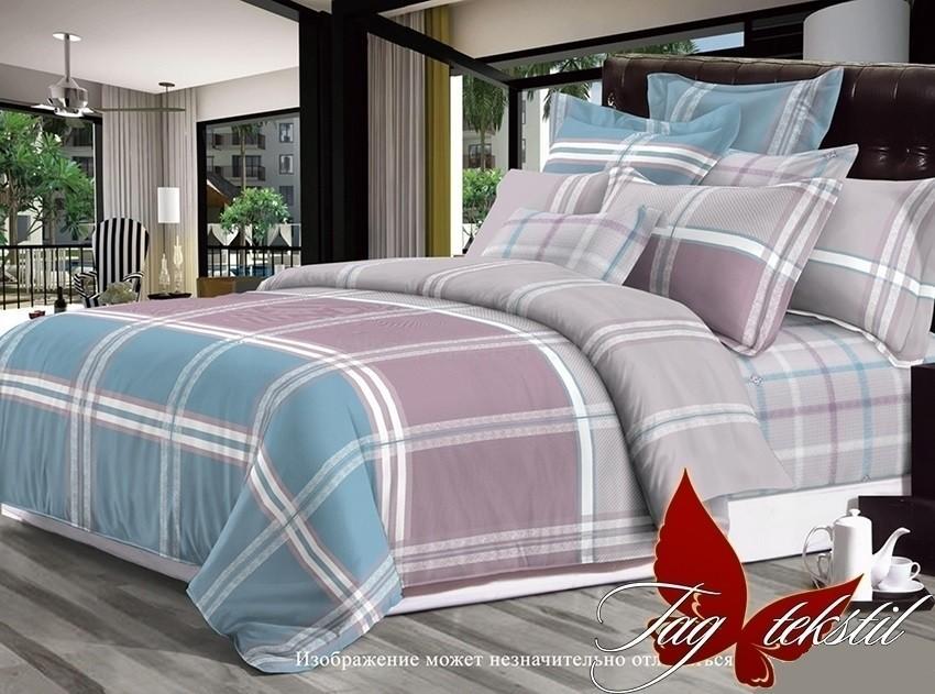 Комплект постельного белья ТМ TAG сатин-люкс с компаньоном S216