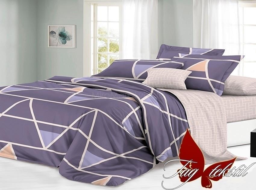 Комплект постельного белья ТМ TAG сатин-люкс с компаньоном S188