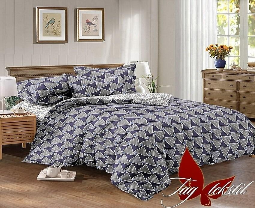Комплект постельного белья ТМ TAG сатин-люкс с компаньоном S141