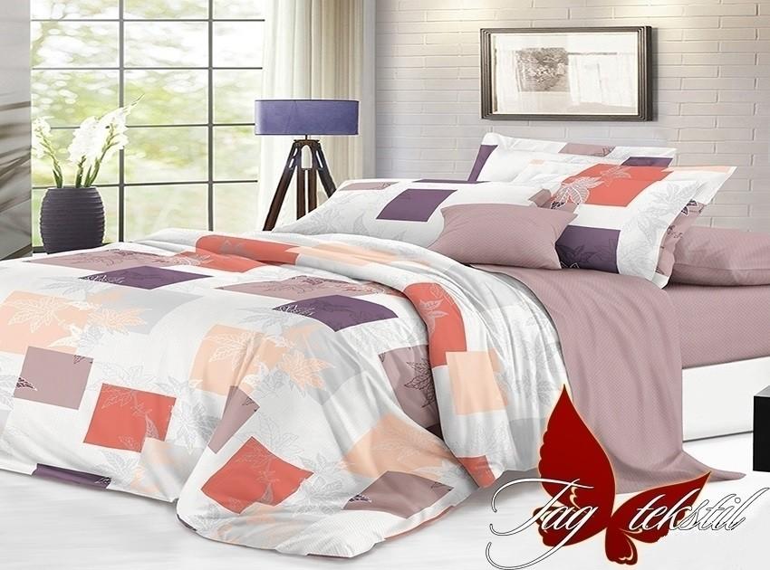 Комплект постельного белья ТМ TAG сатин-люкс с компаньоном S177