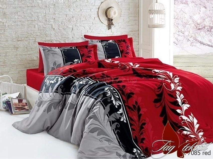 Комплект постельного белья с компаньоном ТМ TAG R7085 red