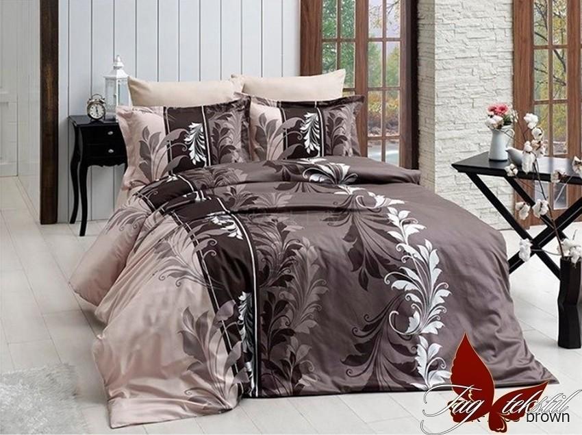 Комплект постельного белья ТМ TAG R7085 brown
