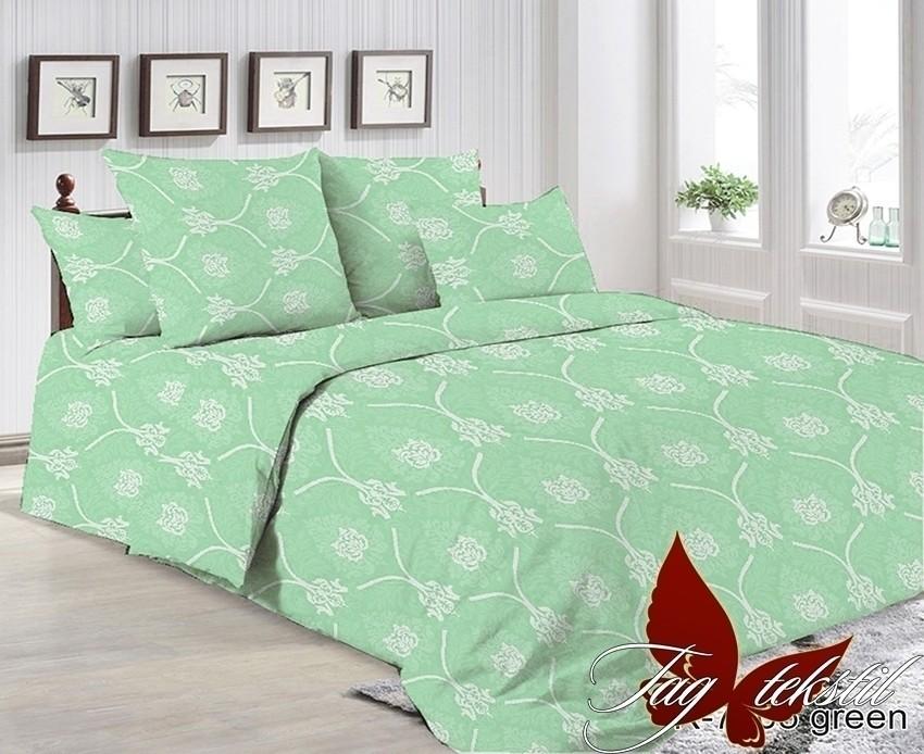 Комплект постельного белья с компаньоном ТМ TAG R7005 green