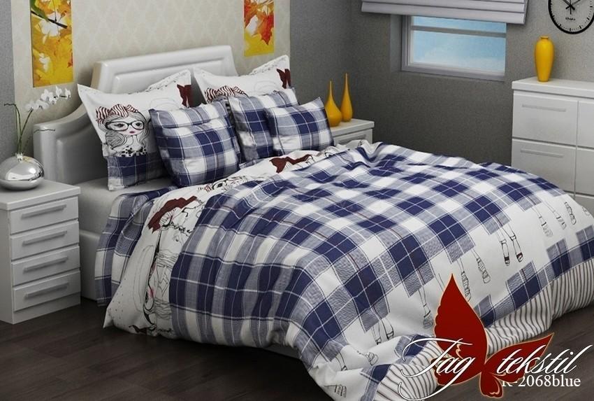 Комплект постельного белья с компаньоном ТМ TAG R2068 blue