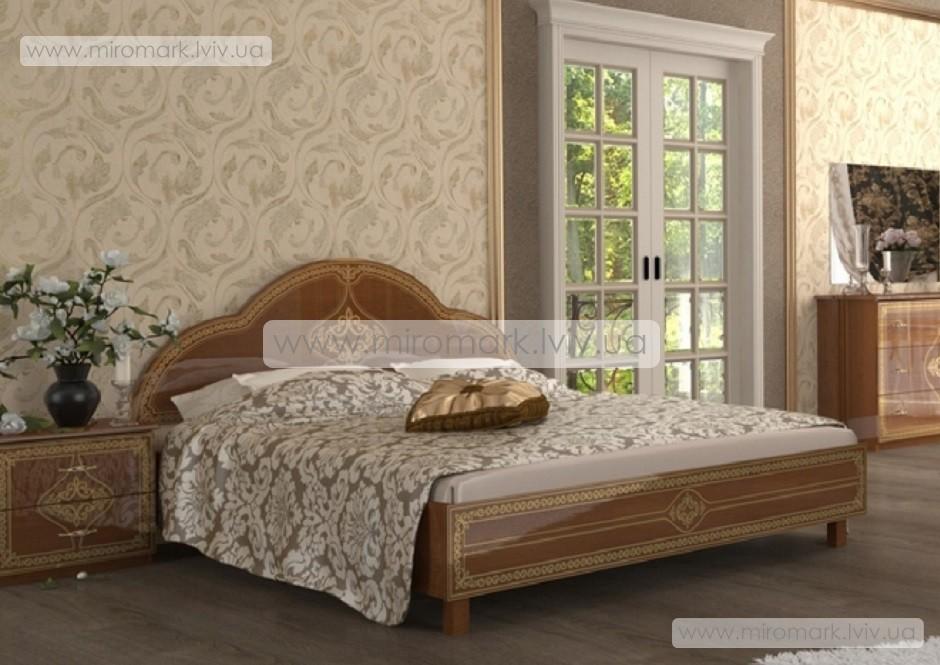Футура новая кровать 160 с каркасом вишня бюзум