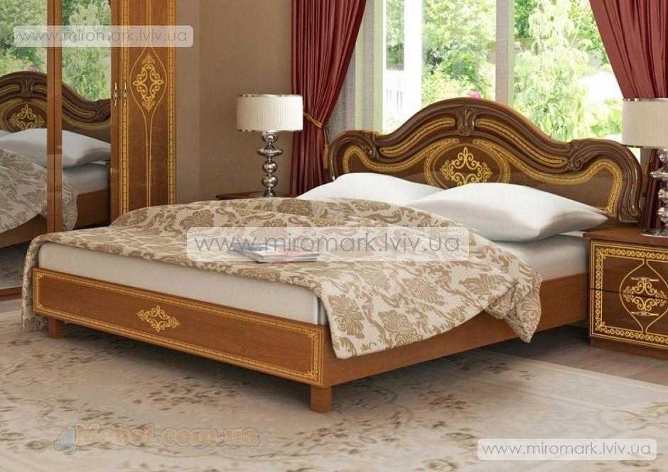 Футура новая кровать 160 люкс с каркасом вишня бюзум