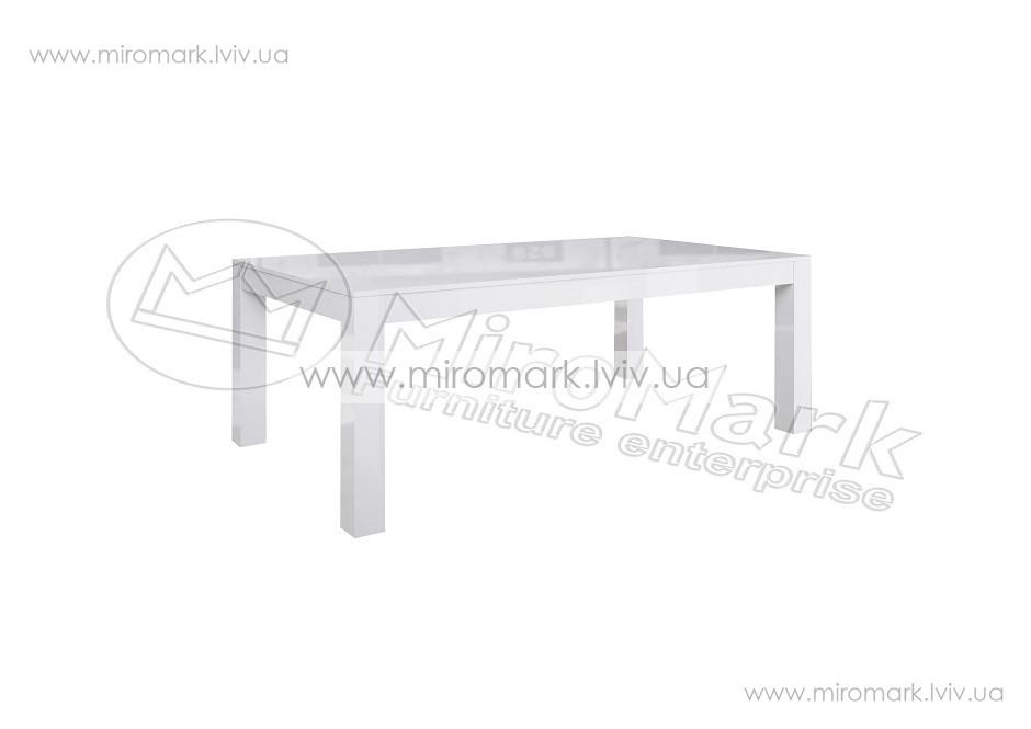 Венеция стол столовый 120х60 см белый глянец