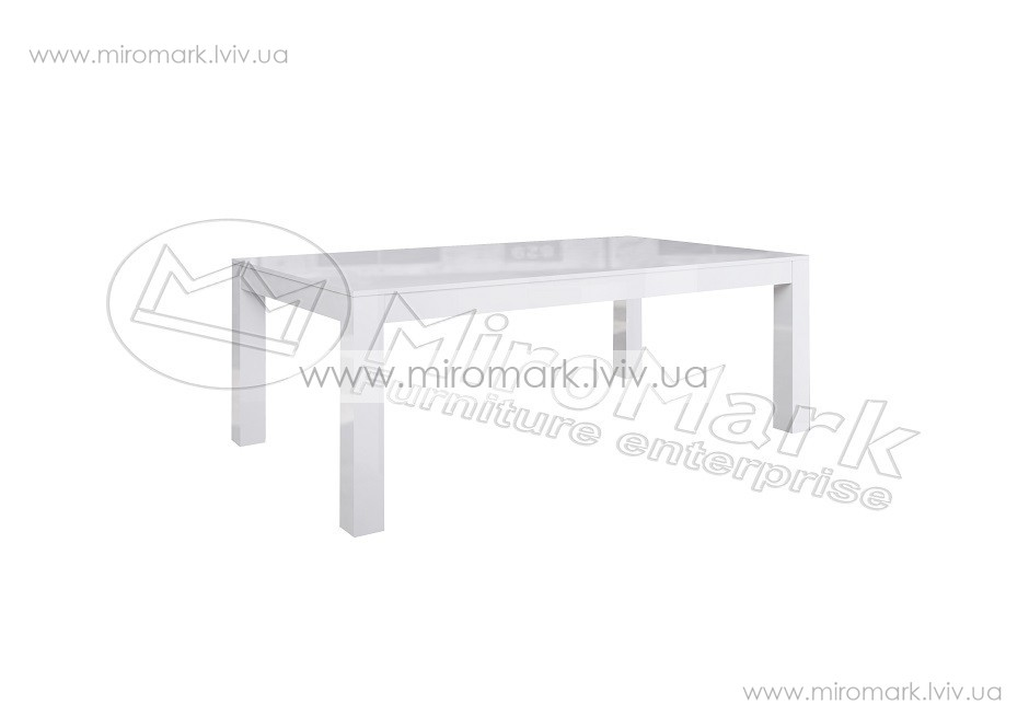 Венеция стол столовый 160х95 см белый глянец