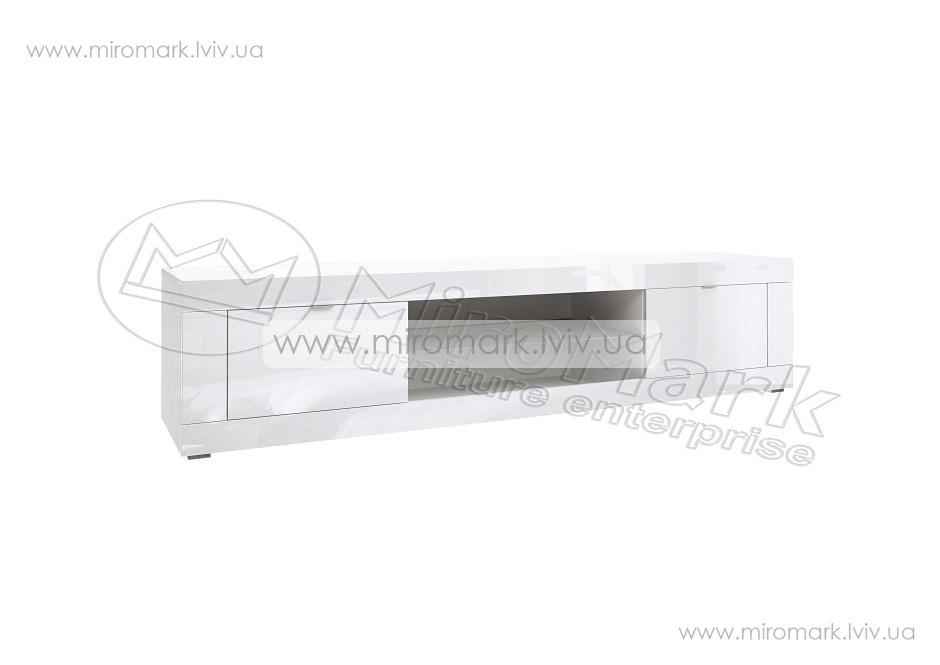 Венеция тумба ТВ 1.8м белый глянец