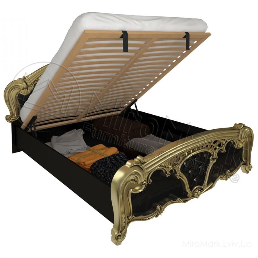 Кровать 160 подъемная Реджина черная