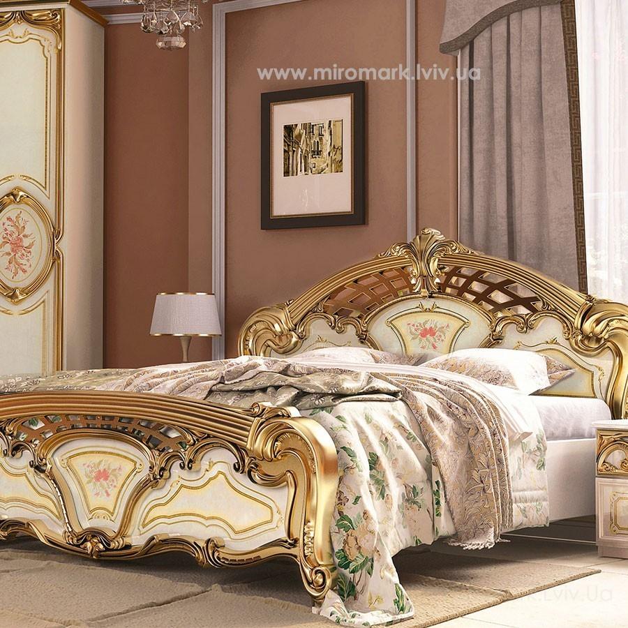 Кровать 180 подъемная Реджина золото